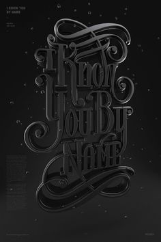 I Know You by Name on Behance