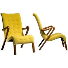 Pair of Axel Larsson for Slagelse Mobelvaerk Lounge Chairs ca.1940s