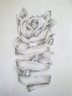 Rose Tattoos for Girls | Rose Tattoo Drawing by ~Anako-Kitsune on deviantART