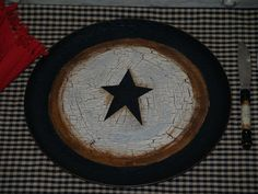 Country Farm House Primitive Star~~Table Place Settings for 6 Table Decor~~~ | eBay