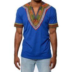 db3090b754 Men Short-sleeved Dashiki T Shirt