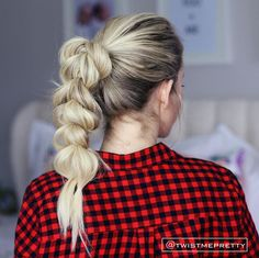 Pull Through Braid - Easy Back to School Hairstyles to Let You Sleep In Later - Photos