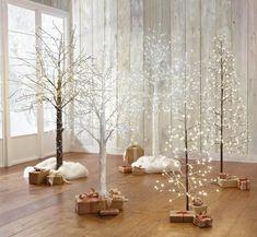 arboles naturales secos pintados navidad
