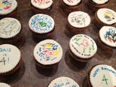 doodle cupcakes for q's birthday - Food Mamma Precious Gift, 4th Birthday, Doodles, Cupcakes, Desserts, Gifts, Food, Tailgate Desserts, Cupcake