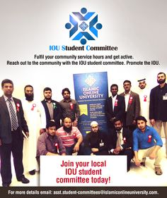 For more details email: asst.student-committees@islamiconlineuniversity.com Community Service Hours, Announcement, Promotion, University, Student, Movie Posters, Film Poster, Community College, Billboard