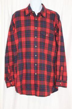 1ee9c3a08772d VTG Woolrich Wool Red Black Buffalo Plaid Flannel Shirt Lumberjack 70s Sz  XL   eBay