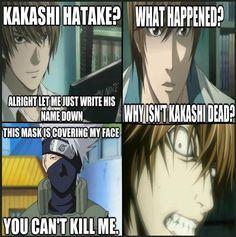 Death Note Vs Kakashi Hatake