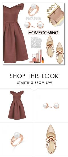"""""""Homecoming Style"""" by blossom-jewels ❤ liked on Polyvore featuring Chi Chi, Nine West, Lanvin and Josie Maran"""