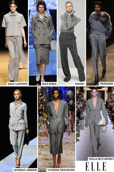 God, I had hoped that the movie release would mean the end of 50 Shades references, but I was definitely wrong. Designers have made it so by deciding that an all-grey suit was the look, but actually, we agree. Monochromatic in grey is pretty much the chicest thing you can do, so take notes Miss Steele.   - ELLE.com