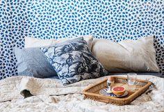 From Earth to Indigo – Utopia Goods Beautiful Bedrooms, Indigo, Textiles, Earth, Aussies, Throw Pillows, My Style, Fabric, Ideas