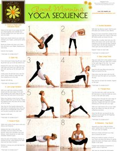 Good Morning Yoga Sequence- I use this quick sequence often, in my rushed life!