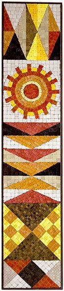 """Evelyn Ackerman mosaic, """"Pennants"""" 1958"""
