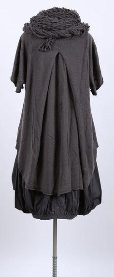 rundholz - Cashmere Tunika mit Falte Oversize mohn - Sommer 2015 - stilecht - mode für frauen mit format...