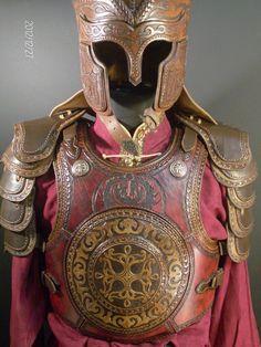 Handmade leather armor by Zoltán Koszta