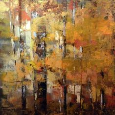 """Contemporary Painting - """"Autumn Gesture I"""" Curt Butler:"""