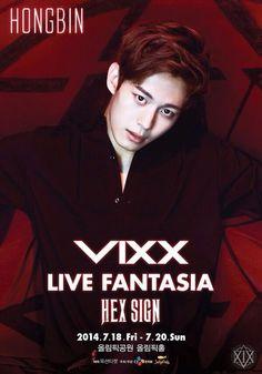 VIXX LIVE FANTASIA 'HEX SIGN' POSTER - HongBin