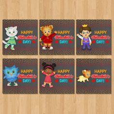 Daniel Tiger Valentineu0027s Day Cards   Chalkboard Red, Orange   Daniel Tiger  Boy Valentineu0027s Day