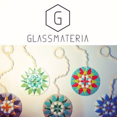Mandalas de vidrio con macramé