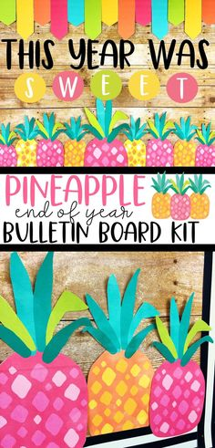 End your year recounting all the sweet memories you've made together as a class! This Pineapple bulletin board kit includes 3 sayings and a student display! Click to see more...