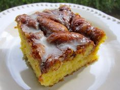Honey Bun Cake (haven't had a Honey Bun since Jr. High I think. Def need to give this one a try soon!)