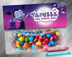 Vampirina Treat Bag Toppers - PrintDParty Selling Birthday Invitation and Printable Party Decoration Digital File. Printable Birthday Invitations, Party Printables, 7th Birthday, Birthday Ideas, Birthday Party Decorations Diy, Bag Toppers, Party Favor Bags, Treat Bags, Party Ideas