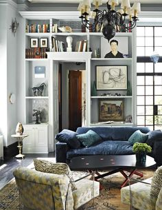 Room of the Week: Layered patterns and textiles in a classic living room show us how to do eclectic right.