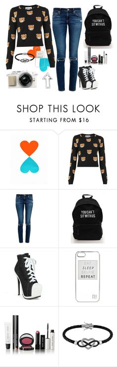 """Style"" by vicky2001 ❤ liked on Polyvore featuring Moschino, AG Adriano Goldschmied, Fahrenheit, River Island, Bobbi Brown Cosmetics and Jewel Exclusive"