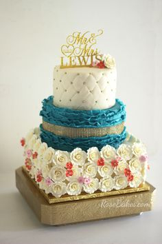 Teal & Coral Wedding