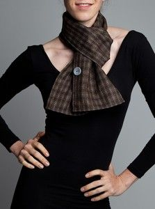 scarf made with reflective thread for biking visibility