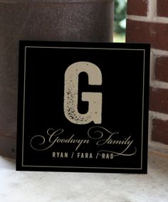 Personalized Family Name Sign Monogram Wooden Signs by DoBoAndCo