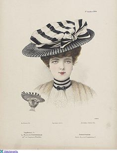 Think she would be cool in a collage or ATC. 1900s Fashion, Edwardian Fashion, Vintage Fashion, Victorian Hats, Edwardian Era, Victorian Ladies, Historical Costume, Historical Clothing, Vintage Postcards