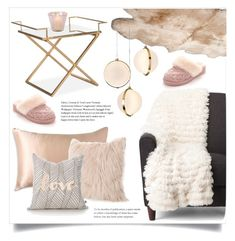 """""""Cozy Home"""" by gracecar3 on Polyvore featuring interior, interiors, interior design, home, home decor, interior decorating, UGG, Baroncelli, Donna Karan and Primitives By Kathy"""