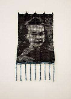 Monochrome Crochet Portraits
