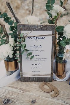 coastal wedding menu | menù matrimonio rustico sul mare