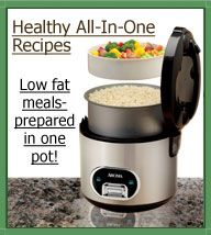 Healthy one pot meals made in a RICE COOKER from Aroma's website