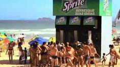 Sprite Giant Soda Machine Shower Guerrilla Marketing Campaign, via YouTube.