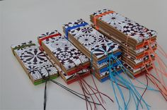 libretas daifuko cho (libro de cuentas) - reutilizando materia - tapa: bolsa de cartón impresa - interior: hojas de papel misionero recortes ydemasíasde imprenta - tamaño: 4 x 11cm - elástico - $...