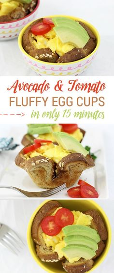 Mmm. Eggs with Avocado and Tomatoes. Perfect breakfast combo in minutes! #fluffyeggs #ad