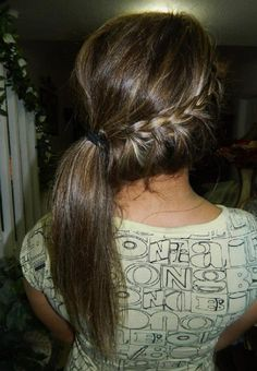 Braid Into Side Ponytail