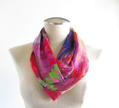 Floral Print Infinity Scarf  Floral Infinity Scarf  by EyeCandy395, $20.00