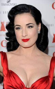 f1982bb35439 Dita Von Teese Medium Curls - Dita Von Teese strode the runway at Heart  Truth s Red