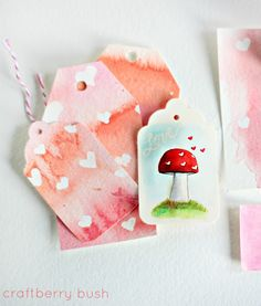 Craftberry Bush: Apple of My Eye Watercolour Tags