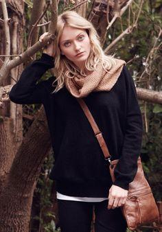 Black Cashmere Madeleine Jumper | Knitwear, Loungewear | hush | hush-uk.com