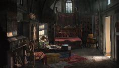 Renaissance Room, Rhys Griffiths on ArtStation at https://www.artstation.com/artwork/renaissance-room