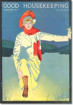 Coles Phillips - Good Housekeeping Magazine cover (January 1917)