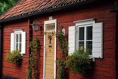 Traditional Swedish Homes | Swedish houses continue to be painted this colour made according to ...
