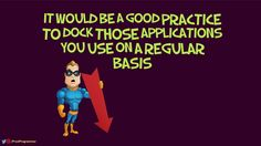 Dock applications