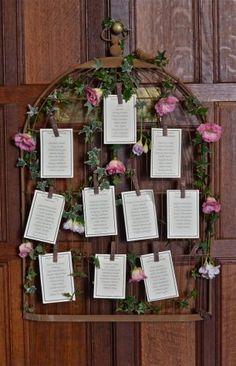 План рассадки гостей с цветами