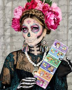 Día de los Muertos is fast approaching and Looks Halloween, Couple Halloween Costumes, Halloween 2019, Fall Halloween, Day Of Dead Makeup, Day Of Dead Costume, Dead Bride, Sugar Skull Makeup, Sugar Skulls