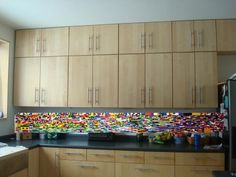 Colorful Kitchen Island Made From 20,000 LEGO Pieces | Lego pieces ...